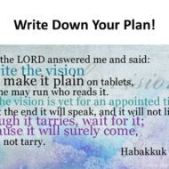 Write Your Plan