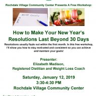 How to Make Your New Year's Resolutions Last Beyond 30 Days – Rochdale Village Wellness Meeting