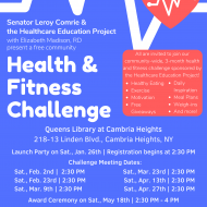Senator Comrie Health & Fitness Challenge Meeting April 27th