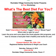 What's The Best Diet For You? Free Workshop at Rochdale Village